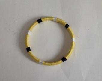 Bracelet Bangle Thread Wrapped Bangle Women's Yellow Bracelet