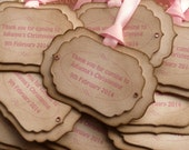 Baby Shower Tags, Vintage Baptism Tags, Personalized Christenting Tags, Pink Baby Tags, Blue Baby Shower Tags,Bridal Shower Tags,Custom Tags