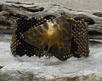 Free Form Peyote Stitch Beaded Bracelet  -  Imagine - EBW Team
