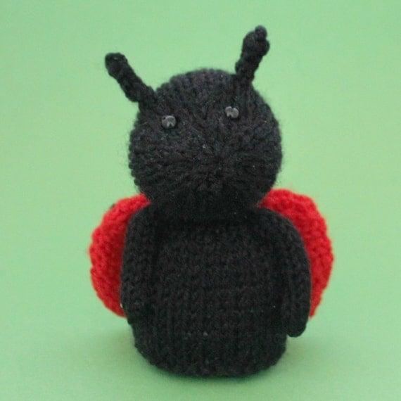 Ladybug Toy Knitting Pattern (PDF)