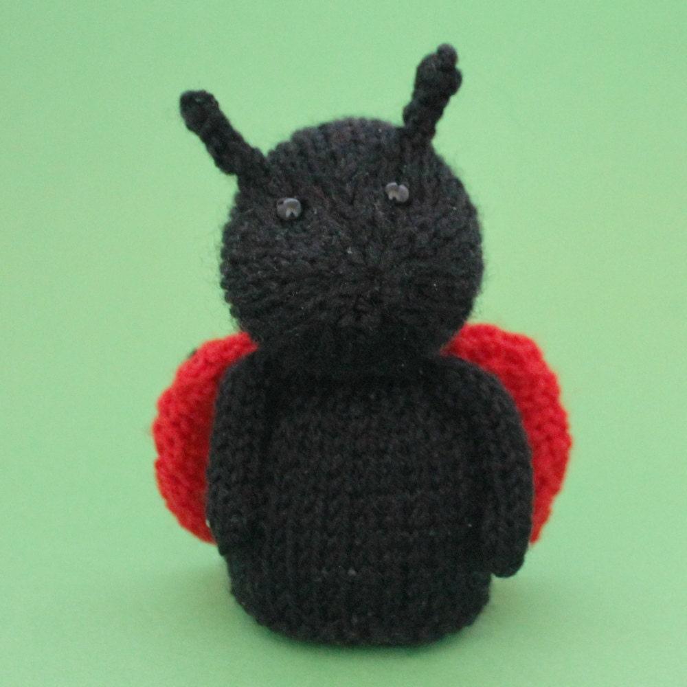 Ladybug Toy Knitting Pattern PDF