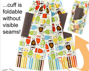 Boys Cuffed Pants PDF Sewing Pattern with Tutorial newborn through 10 youth Instant