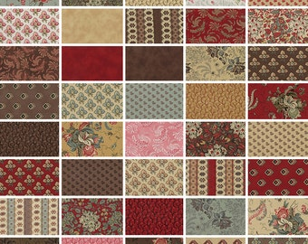 "Moda Collections Community Precut 5"" Charm Pack Fabric Quilting Cotton Squares Howard Marcus 46190PP Floral Flowers"