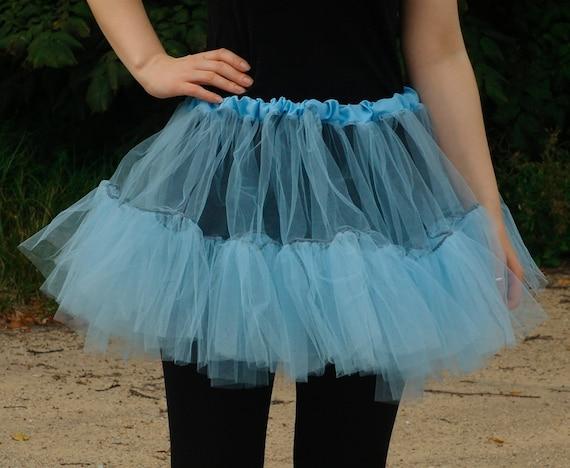 light blue tutu tulle bridal petticoat show skirt wedding