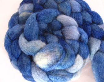Bluefaced Leicester and Silk for Spinning, Nuno Felting-4 Ounces