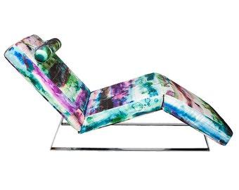 Watercolor Splash Chaise Lounge