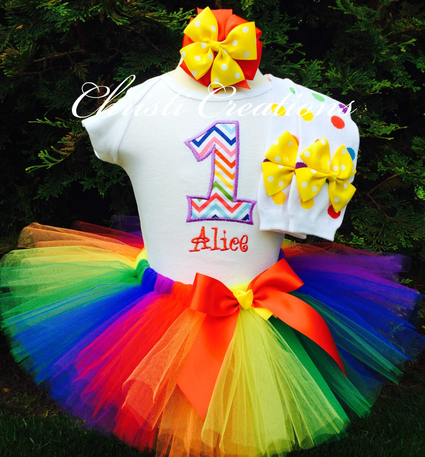 Rainbow 1st Birthday Outfit For Cake Smash Outfit Includes