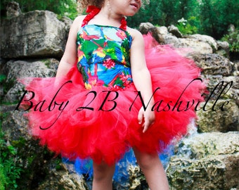 Jungle Parrot Baby Costume Tutu Set  All Sizes Baby - 8