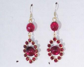 SALE Renaissance Necklace Earrings, Tudor Earrings, Medieval Earrings, Renaissance Jewelry, Tudor Jewelry, Replica Jewlery, Swarovski