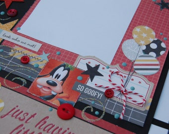 Disney Scrapbook album, Disney scrapbook pages, with premade pages best gift for women