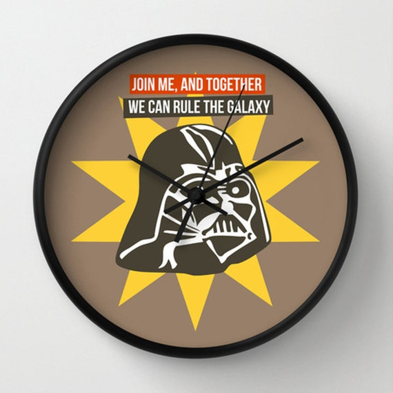 Star Wars Wall Clock Darth Vader Wall Clock Designer Gift
