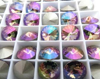 12 Purple Haze Swarovski Crystal Rivoli Stone 1122 47ss 10mm