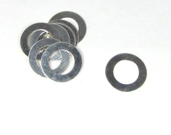 3 - 1 inch 22 gauge Sterling Washers 5mm rim for stamping very nice