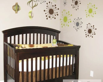 Retro Funky Starbursts Wall Decals - Retro Vinyl Removable Wall Decal