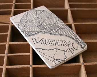 letterpress Washingon DC notepad