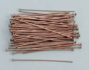 1.5 Inch Head Pins, Stainless Steel, 21 Gauge, 100 pieces, SS6
