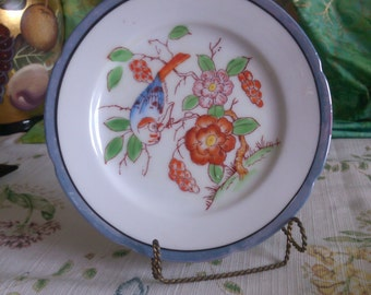 Bird Luster Ware Side Plate by Chikar Amadri in Japan