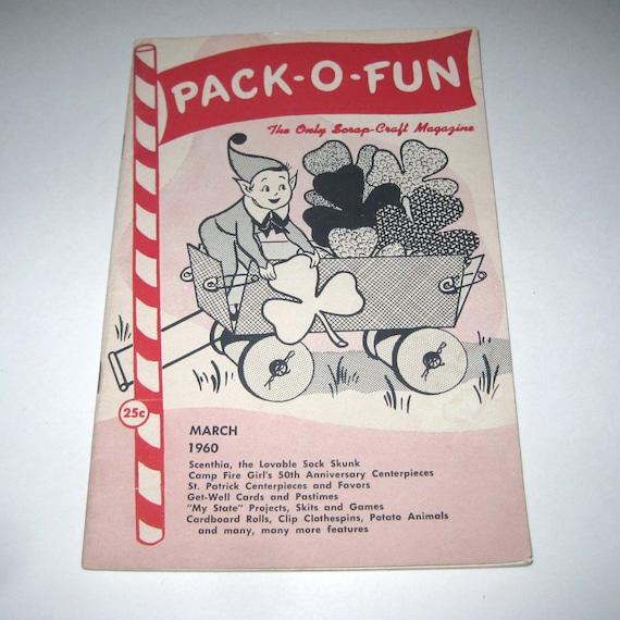 Vintage Pack O Fun Magazines 1976 1977 Lot Of 10 Scrap - Craft