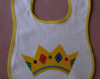 Baby Bib Gold Crown