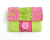 card case. cute gift ideas. pink green small woman wallet. cardholder credit card pouch. teen tween birthday present.