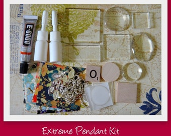Extreme Starter Pendant Kit- This kit includes all of the supplies and instructions to make 10 pendants