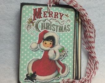 Set Of Nine Vintage Retro Gift Tags
