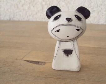 panda girl clay doll