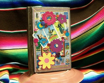 Fiesta Loteria Altered Book Memory Keeper for Travel  Journaling or Project Life