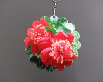 Red Peony Wind Spinner