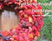 Felt Wreath Pattern Tutorial - Scrap Project - Instructions, PDF Delivery - Re-purposed wool felt project