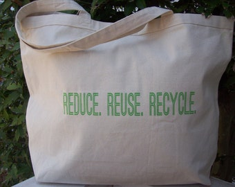 Fashionable Market Bag -  Reduce. Reuse. Recycle.