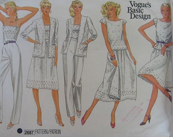 Vogue Basic Design Wardrobe Pattern 2687