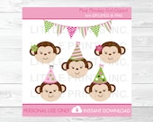 Cute Girl Monkey Birthday...