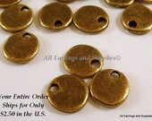 20 Flat Round Drop 8mm Antique Bronze LF/NF - 20 pc - M7040-AB20 - Select Qty