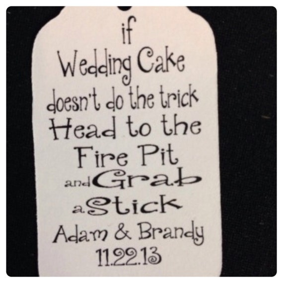 100 Tea Stained or white card stock Wedding Cake S'more Tag