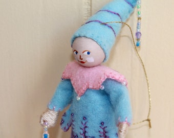 Felt Art Doll Light Blue Skies Piksee Easter Decoration