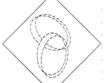 Interlocking Wedding Rings quilting pattern, downloadable file