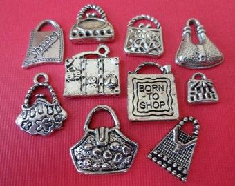 10 Handbag Theme Charms ITEM:AE24