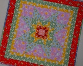 STAR in a STAR 1930s Mini Quilt from Quilts by Elena Table Runner Wall Hanging