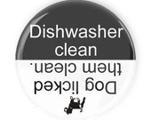 Dishwasher Fridge Magnet - Dishwasher Clean Dirty Magnet for Dog Lovers