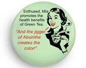 Funny Tea Lover Gift, Funny Fridge Magnet-Health Benefits of Green Tea for Green Tea Fans