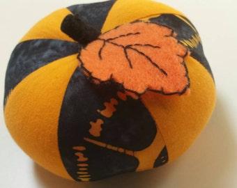 Small Orange and Black Pumpkin