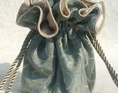 Jewelry Travel Bag, Tote, Organizer, Jacquard silver and Champagne