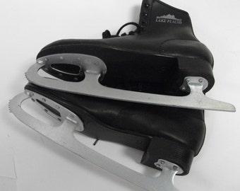 Mens Vintage Black Lake Placid Ice Skates