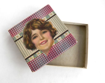 Vintage Pretty Girl on a Box