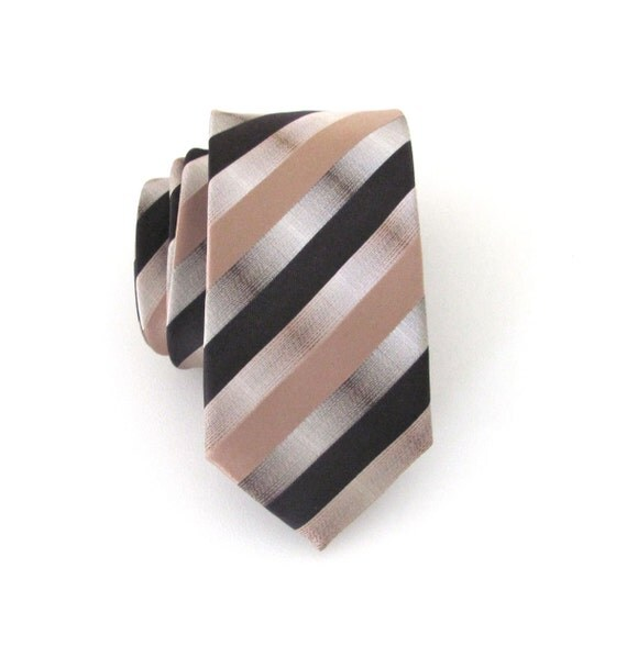 mens tie brown taupe stripes mens ties