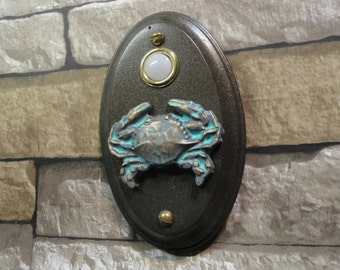Nautical Coastal Crab Doorbell Lighted