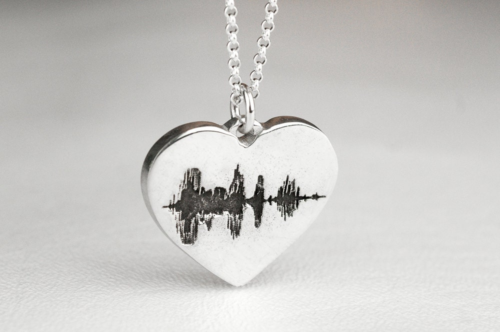 soundwave jewelry sound wave necklace soundwave sterling silver 8429