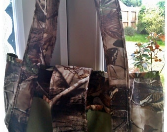 Shoulder Bag - Canvas Real Tree Camo Fabric