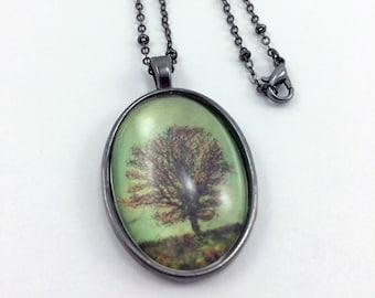 Green Tree Necklace / Tree Jewelry / Autumn Tree / Autumn Jewelry / Gift For Her / Jewelry For Women / Green Autumn Tree Necklace